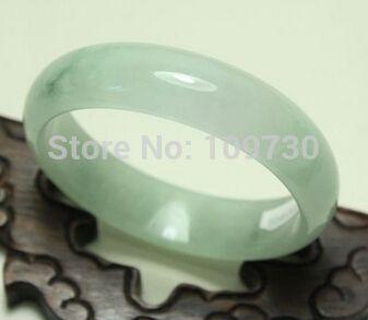 shiipping 001526 Certified 100% Natural Green Jadeite Bangle Bracelet Handmade