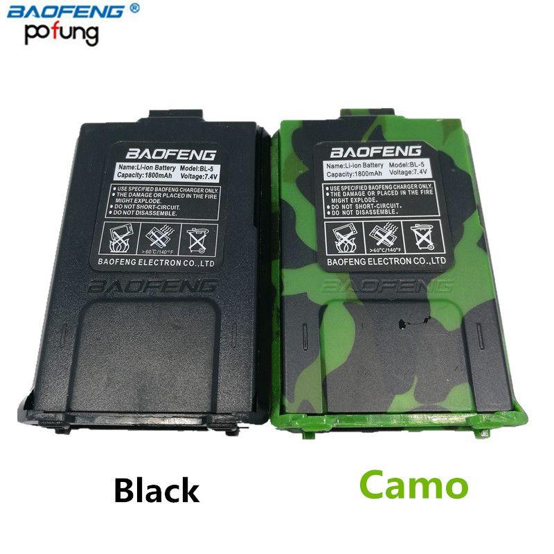 D'origine Baofeng BL-5 7.4 V 1800 mah Li-Ion Batterie Pour Baofeng UV-5R UV-5RE BF-F8HP Talkie Walkie Accessoires UV 5R Deux Way Radio