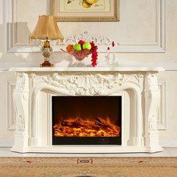 Sala de estar warming chimenea de madera W148cm chimenea eléctrica chimenea LED óptica llama artificial