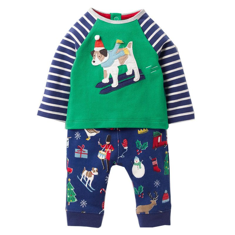 Children Clothing Sets <font><b>Baby</b></font> Boys Clothes Back To School Outfits Boys Animal Applique Hoodie+Pants Kids Tracksuits for Boys Sets
