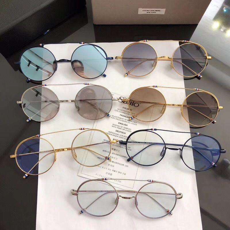 Fashion Designer untralight Metal Round eyeglass frame THOM TBX910 high quality retro women eyeglass Women/Man original quality