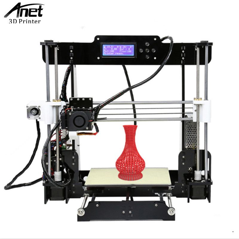 ANET A8 3D Printer Prusa i3 3D printer High Precision Easy Assembly Filament Kit 8GB SD Card LCD Screen Send From Moscow