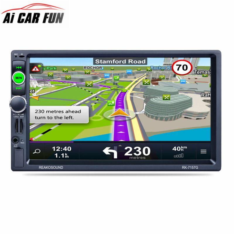 7157G 7inch 2DIN Car Radio Bluetooth MP5 Player Reversing Rear View AM/FM/RDS Radio Tuner GPS Navigation Car Radio Media Player