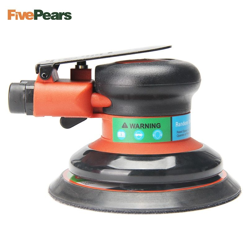 Air Random Orbital Palm Sander Polisher for 5inch 125mm Pad <font><b>Pneumatic</b></font> Power Tool Free Shipping FivePears