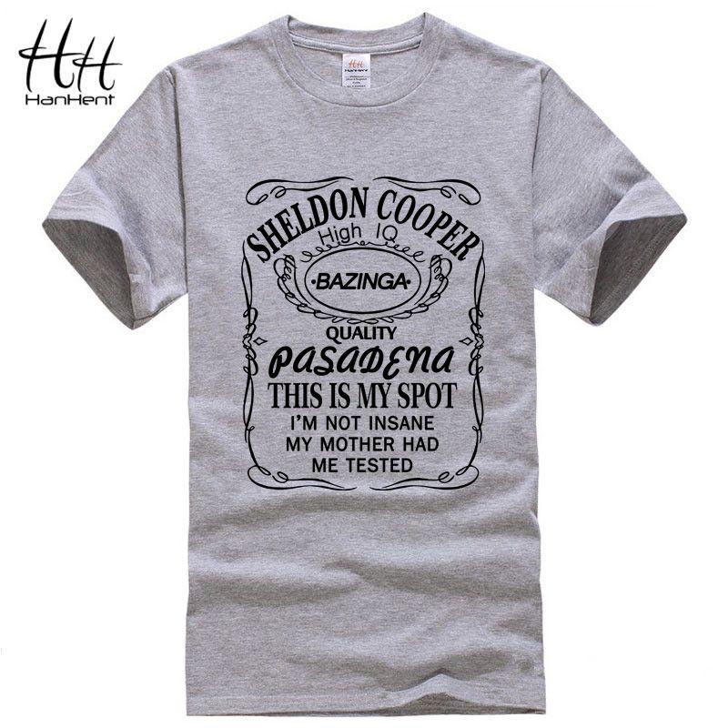 HanHent nouveau le Big Bang théorie Sheldon Cooper Bazinga T-Shirt hommes coton T-Shirt pour homme T-Shirt haut pour homme t-shirts livraison directe