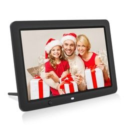 12 inch HD Digital Photo Frame Motion Sensor & 8GB Memory LED Picture Frame with Wireless Remote Control Music MP3 Video MP4