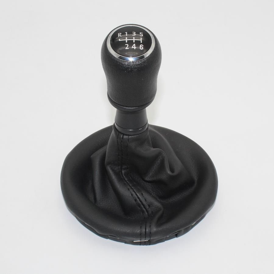 6 Speed Gear Stick Shift Knob Gaiter Leather Boot For VW Multivan T5 T6 2003 2004 2005 2006 2007 2008 2009 2010 2011 2012-2015