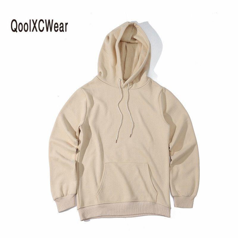 QoolXCWear Hoodie Hip Hop Street wear Sweatshirts <font><b>Skateboard</b></font> Men/Woman Pullover Hoodies brown/black/Army green/khaki Male Hoodie