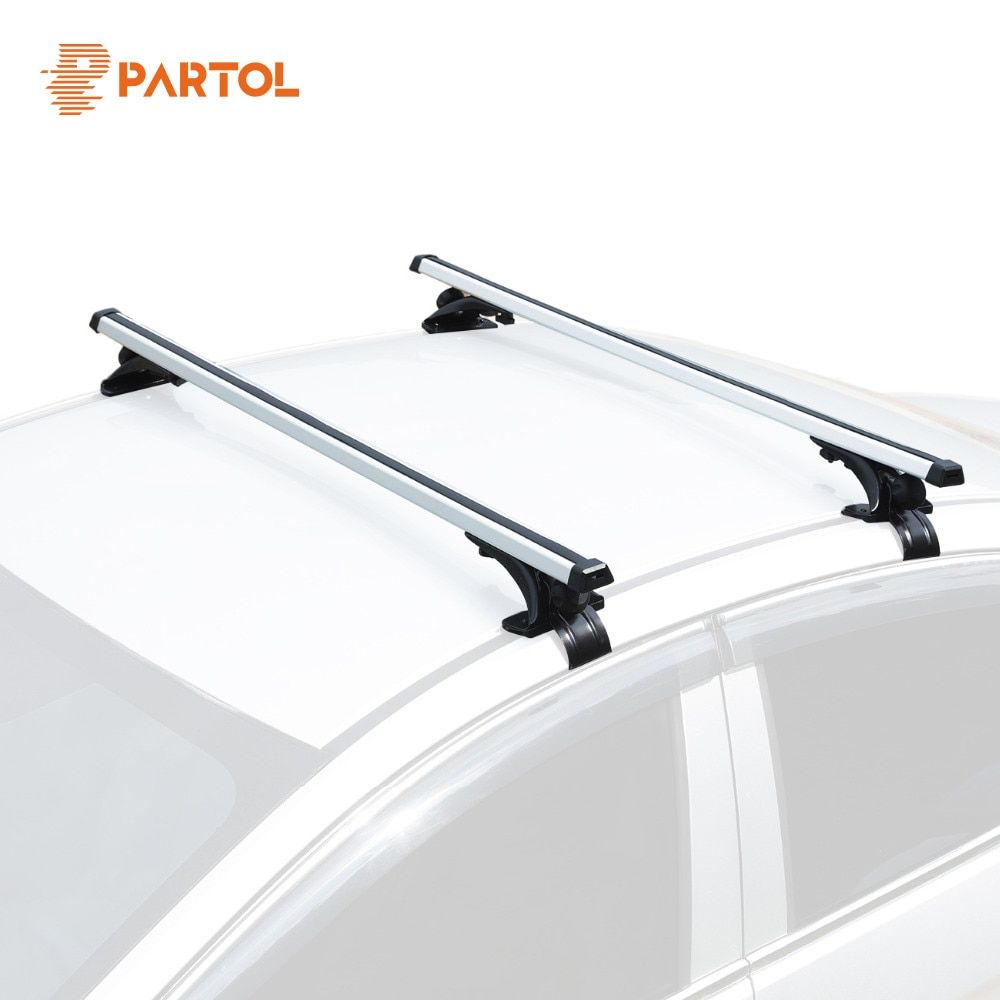 Partol Universal 120CM Car Roof Racks Cross Bars Crossbars 68kg 150LBS Work With Kayak Cargo Luggage Ski Rack Mounted On Rooftop