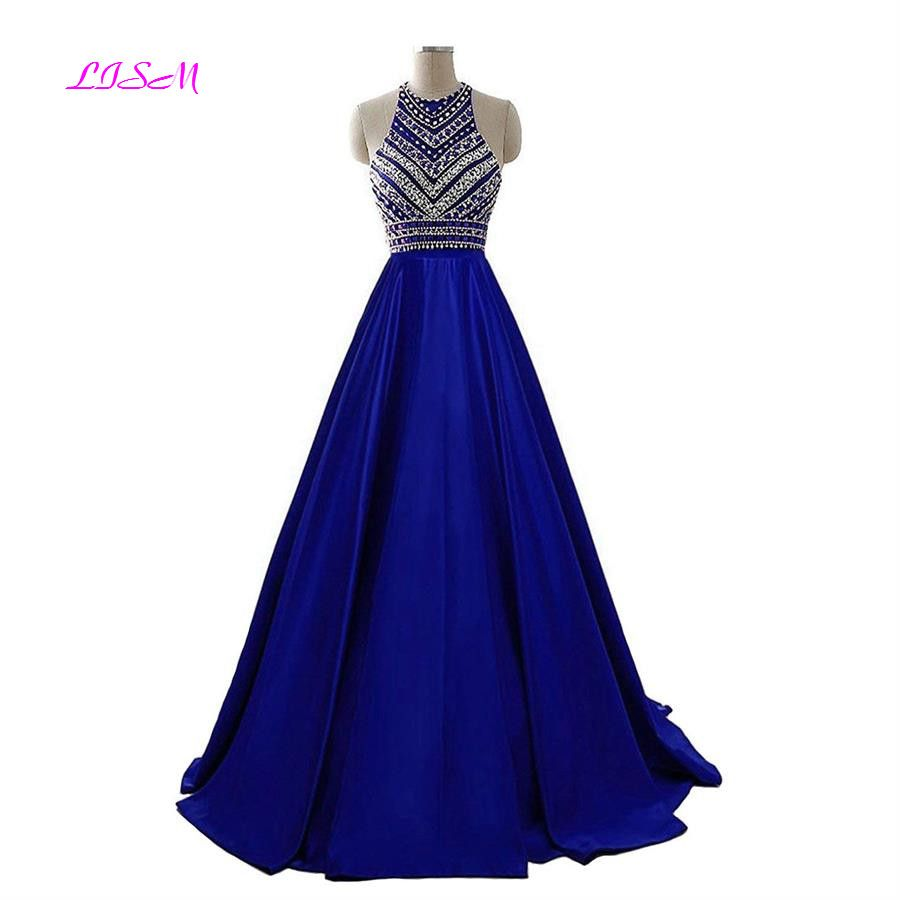 Real Photos Summer Sequins Formal Party Gowns Beading Prom Dresses Long Satin Crystals Bridesmaid Dresses vestidos de gala