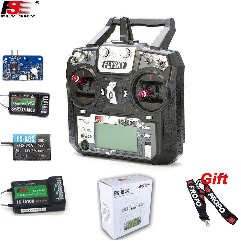 Original Flysky FS-i6X 10CH 2,4 GHz AFHDS 2A RC Sender Mit FS-iA6B FS-iA10B FS-X6B FS-A8S Empfänger Für Rc Flugzeug Modus 2