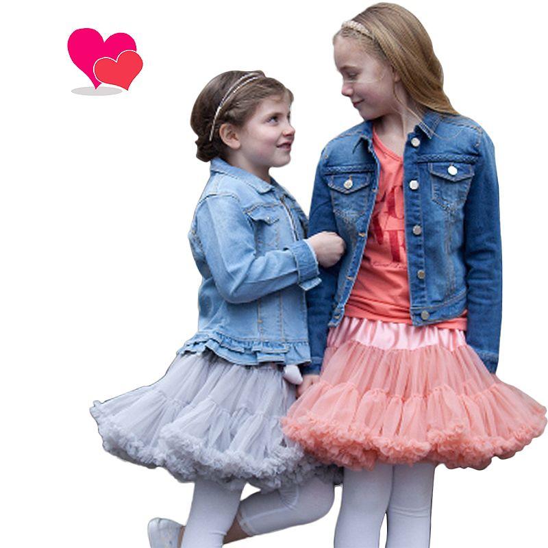 Buenos Ninos/20 Цвета Винтаж пыльный розовый/серебристо-серый/вино/темносиний для маленьких девочек многослойная короткая юбка Обувь для девочек ...