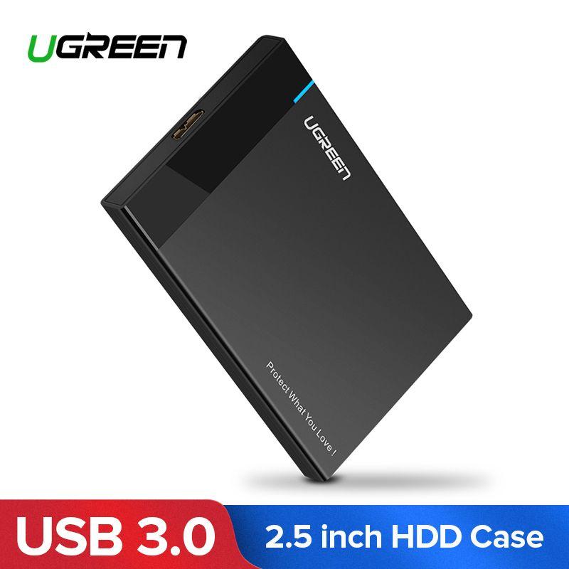 Ugreen HDD Cas 2.5 pouce SATA à USB 3.0 SSD Adaptateur pour SSD 1 tb 2 tb Type C Dur disque Boîte Externe HDD