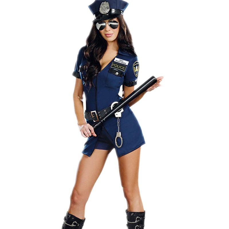 Сексуальные полиции Для женщин костюм полицейский наряды взрослая женщина полицейских Косплэй Полицейский Комбинезон костюмированный Ко...