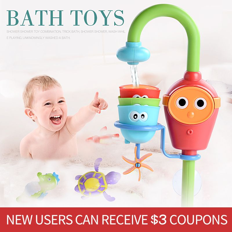 Becs de bain jeu mécanique eau dans la salle de bain oyuncak pour bébé garçons enfants piscine piscine baignoire jouets de bain