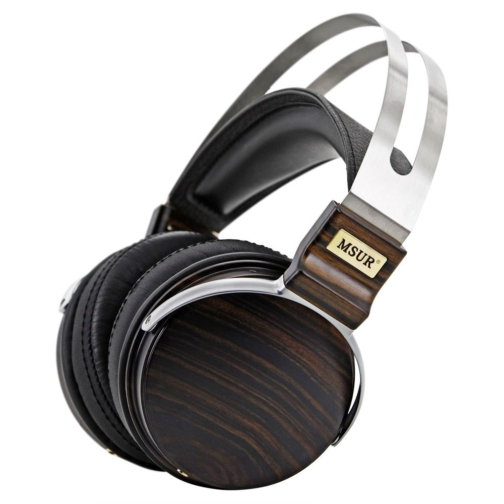100% Original High End MSUR N650 HiFi Wooden Metal Headphone Headset Earphone With Beryllium Alloy Driver Portein Leather T60