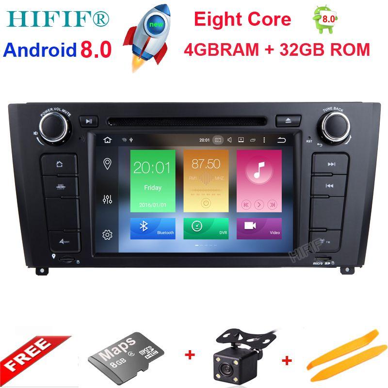 HIFIF Android 8.0 CAR DVD player FOR BMW 1 SERIES E81 E82 E83 E87 E88 2004-2012 car audio stereo Multimedia GPS 8Core 4GB+32GB