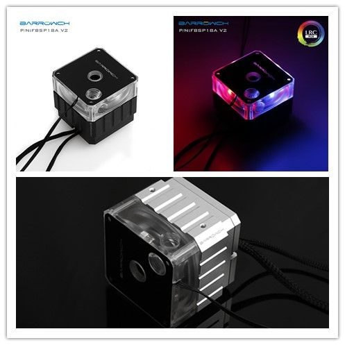FBSP18A V2 Barrow watercooling pump set 18w PWM speed control 12v water cooling 2.0 lighting system 4.1m lift 1100L/H G1/4