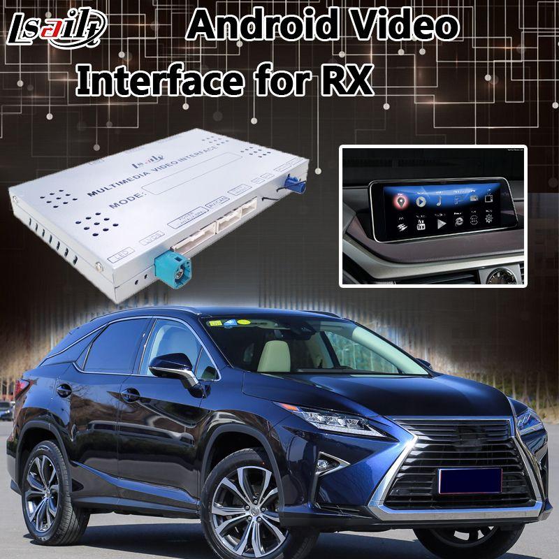 Lsailt Android 7.1 Video Interface für Lexus RX 2013-2019 Maus Control, GPS Navigation Mirrorlink RX200T RX270 RX450h RX350