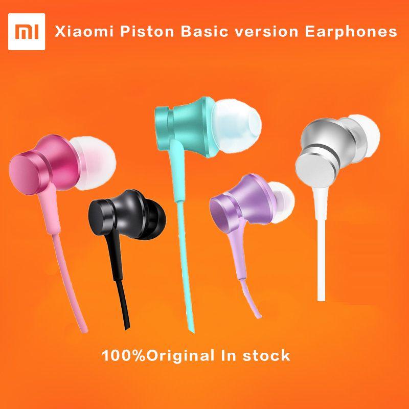 CALIENTE Original Xiaomi Pistón Auriculares 3 Colorida Juventud Edición 3.5mm tercera Versión Básica de Graves Auriculares Auriculares con Control Remoto y Mic