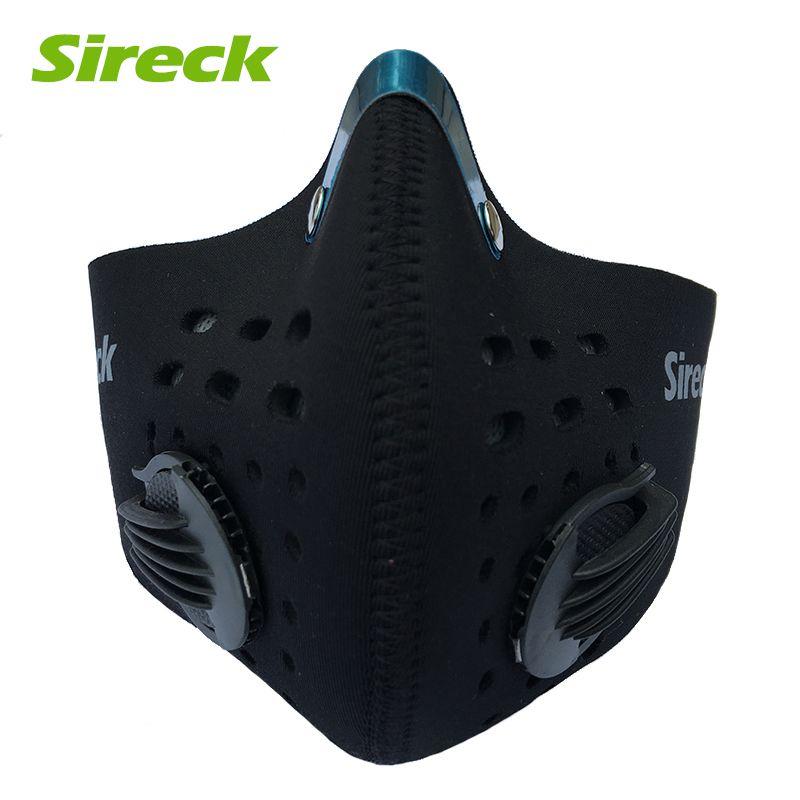 Sireck masque Anti-poussière filtre à charbon actif entraînement Sport cyclisme masque Pm 2.5 Anti-Smog vélo masque demi vélo visage bouclier