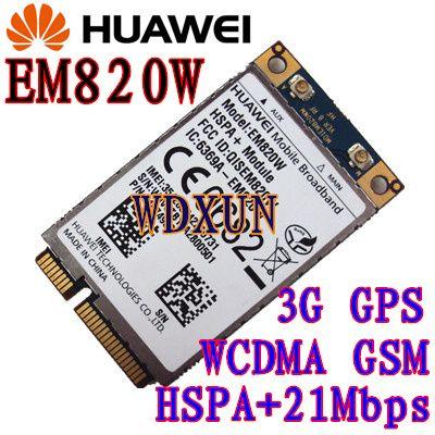 Carte réseau HuaWei EM820W 3G MINI PCIE HSPA + ModuleUMTS/HSDPA/HSUPA/PA + HSPA + GPS