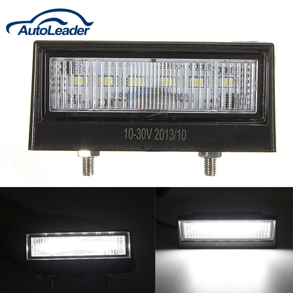 12/24V 6LED Number Plate License Light Lamp Car Trailer Truck Boat Tail Light Waterproof