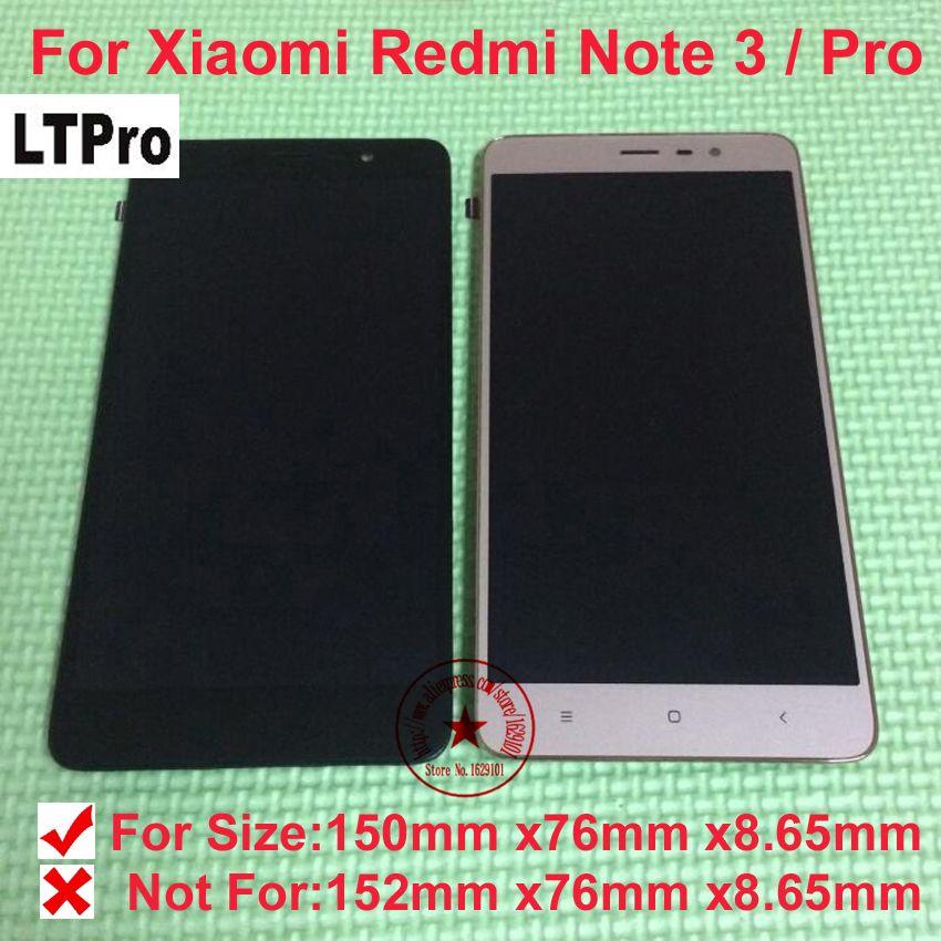 LTPro TOP Qualité LCD Affichage à L'écran Tactile Digitizer Assemblée avec cadre Pour Xiaomi Redmi Note 3 Pro Mobile pièces De Rechange