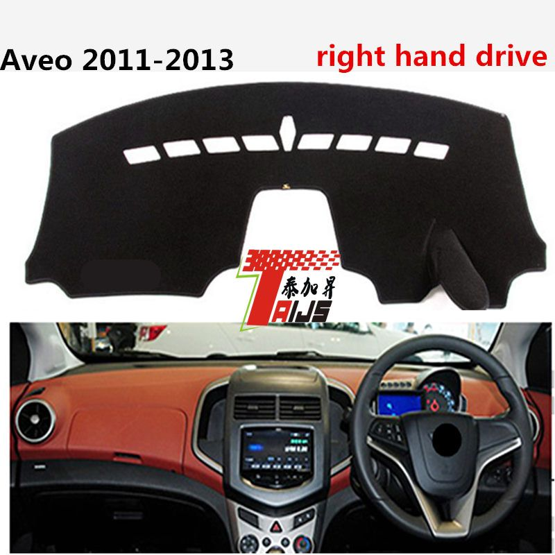 TAIJS right hand drive Colorful style car dashboard mat cover pad for Chevrolet Aveo 2011-2013 avoid light pad for Chevrolet