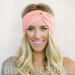 Twist Turban Bandeau pour les Femmes Arcs Élastique Sport Bandeaux Tête Bande De Yoga Bandeaux Couvre-chef Headwrap Filles Cheveux Accessoires