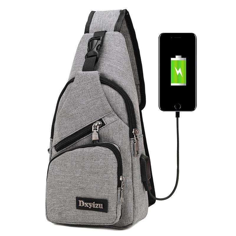 Männer reise brust pack einzigen rucksack england brust umhängetaschen tasche externe usb lade rucksack frauen back pack