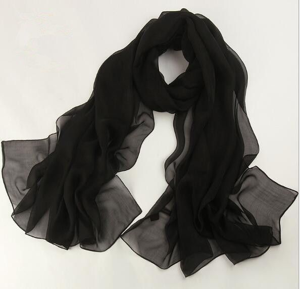 High quality women summer fashion solid silk scarf large scarf 180*110cm