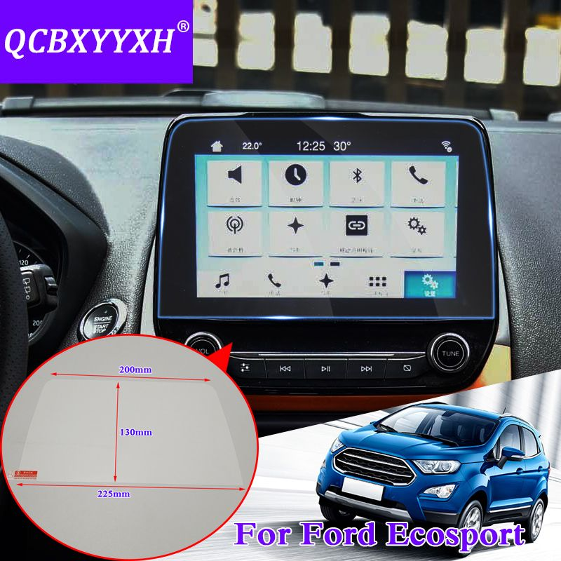 QCBXYYXH For Ford Ecosport 2018 2019 Car Styling GPS Navigation Screen Glass Protective Film Dashboard Display Protective Film