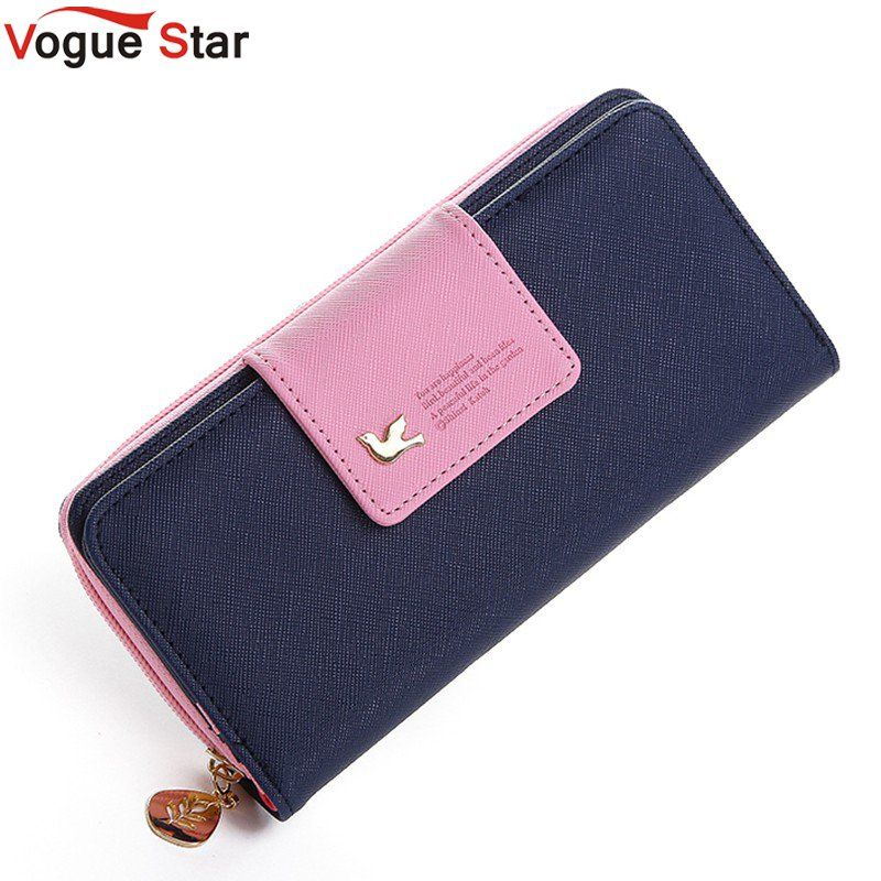 Vogue Star 2018 Women Brand Wallets Famous Designer PU Leather Purses Multi Colors Women Wallets  Hot selling YK40-21