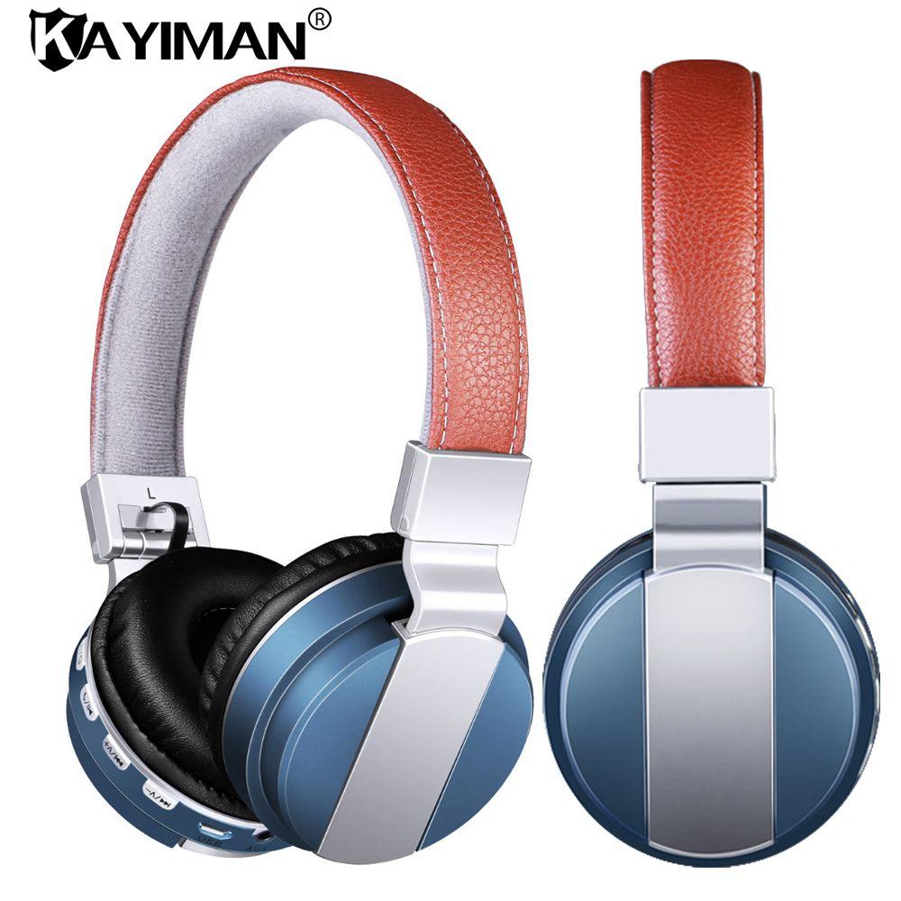 Bluetooth Kopfhörer Wireless Stereo Headsets Ohrhörer mit Mikrofon Tf-karte FM Radio AUX Spielen für IPhone Samsung telefon