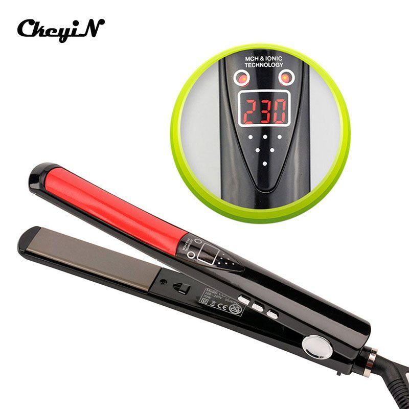 30 s Rapide défriser Les Cheveux Brosse LCD Numérique Anti Statique En Céramique Cheveux Fer À Lisser 100-240 v Plat Professionnel fer 89_49