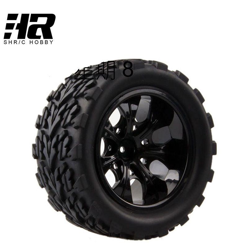 4PCS RC car 1/10 HSP 12mm racing wheel rim tires diameter 115mm width 55mm Suitable for 1/10 HSP 94111 94188 94108 HPI