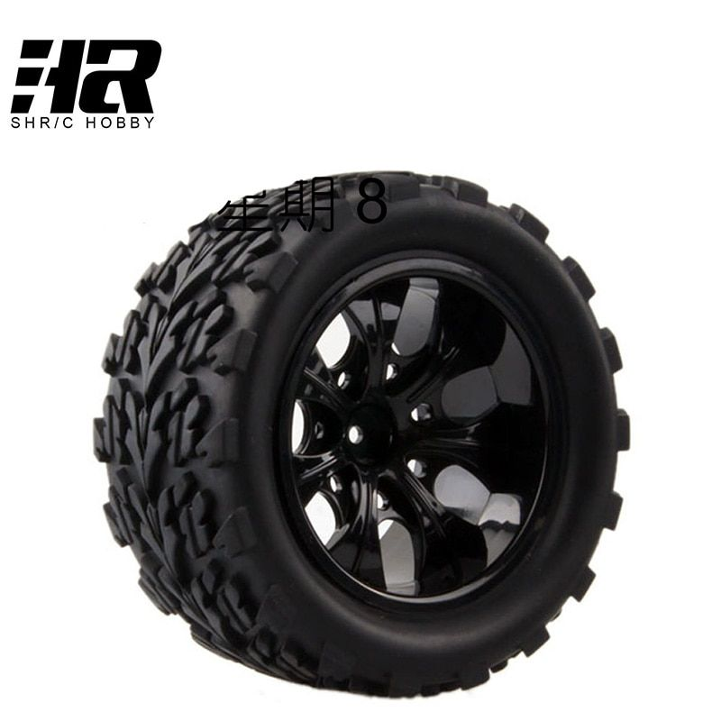 4PCS RC car 1/10 HSP 12mm racing wheel rim tires diameter 115mm width 55mm Suitable for 1/10 HSP 94111 94188 94108 HPI