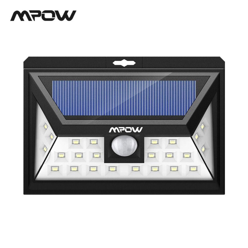 Mpow CD011 24 LED Solaire Lumière Lampe IP65 Étanche Extérieure Grand Angle Détecteur de Mouvement Lampe Avec 3 Modes Pour Patio jardin Voie