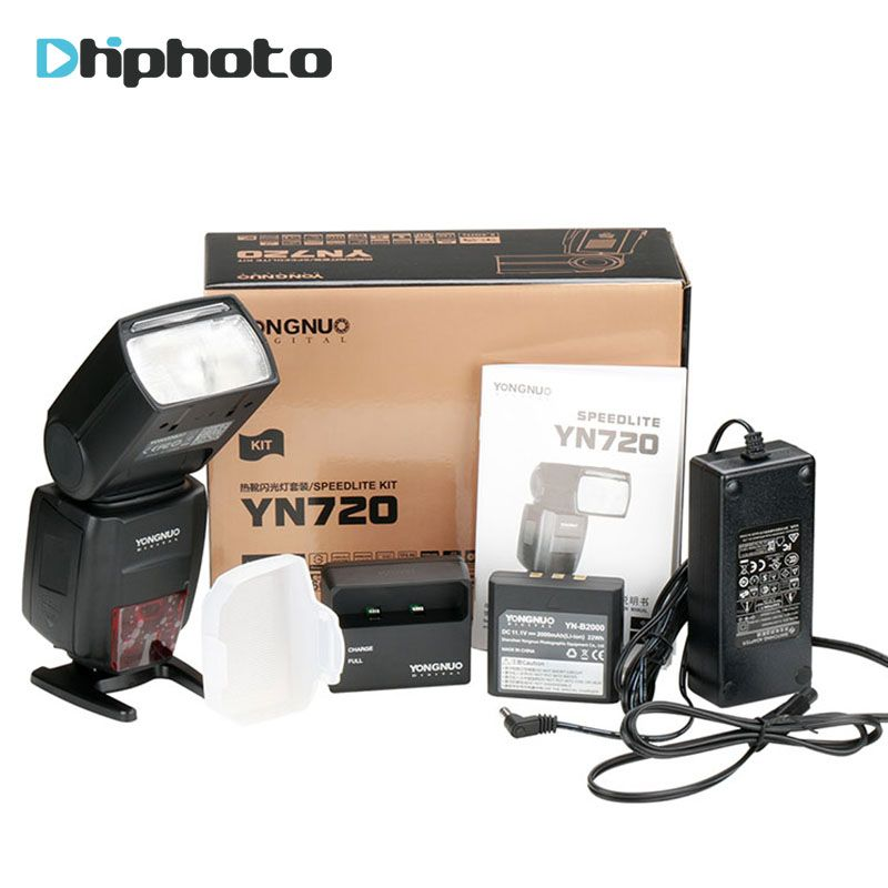 2018 Yongnuo Lithium Speedlite YN720 Flash with 2000mAh battery for Canon Nikon Pentax,Compatible YN685 YN560 IV YN560-TX RF605