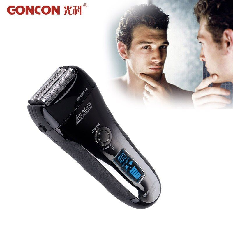 LCD Display Electric Shaver Men Washable Rechargeable 4 Blade Electric Shaving Razor Trimmer Machine Quick <font><b>Charge</b></font> Barbeador 37