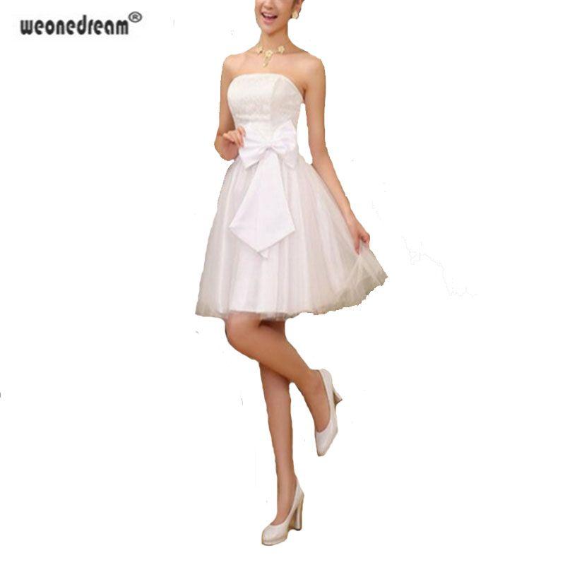 Barato Novia del Diseño del Cortocircuito Vestidos de dama de Honor Champán Rosa de Novia Blanco Vestido Formal Corto Matrimonio de Diseño Vestido De Las Señoras Vestido