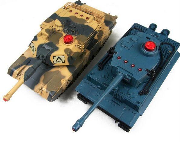 Ein paar 1/32 classics HuanQi Infrarot Fernbedienung Track Schlacht RC Tank 2,4 ghz Sound Von Kanone spielzeug vorhanden 2017 neue Version