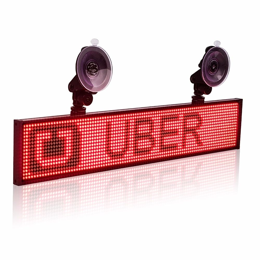 12V P5 Car Uber Lyft Led Sign Multifunction Wifi Programmable Advertisement Scrolling Message Display Board Support 2-line Text