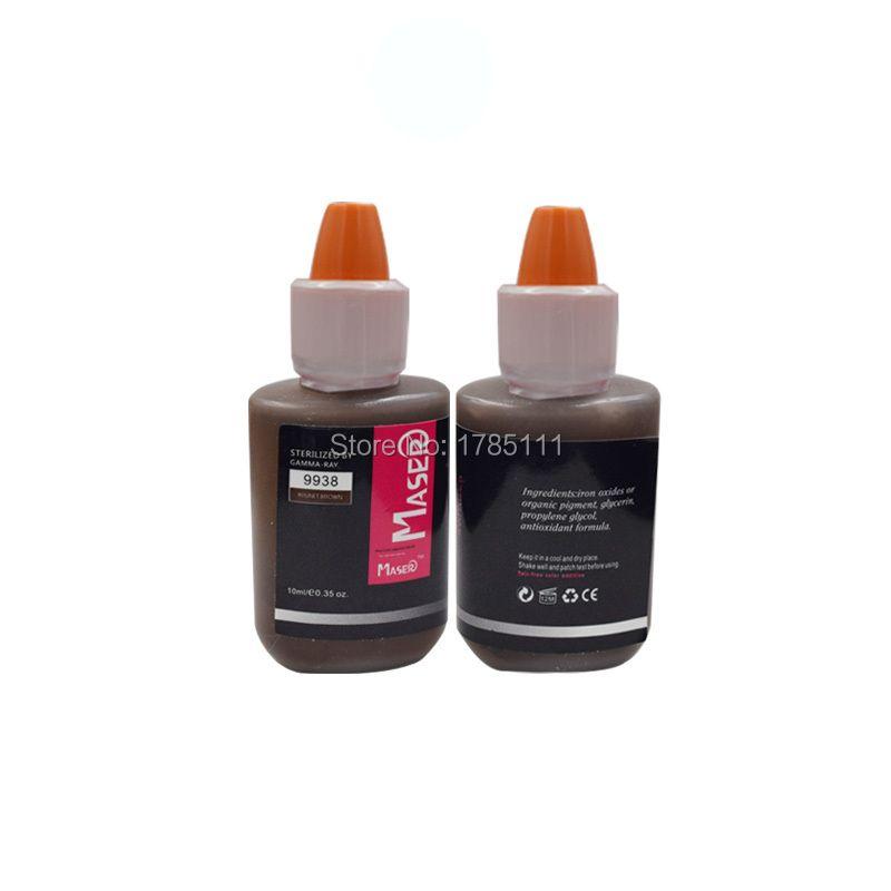 10 ML 9938 BRUNET brun plante extrait intensité organique non-toxique sourcil tatouage micro Pigment maquillage permanent encre PMU