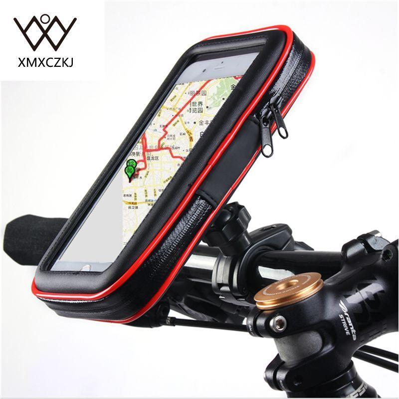 Vélo Vélo porte-moto avec Boîtier Étanche Sac Guidon Mont porte-téléphone Stand Pour iPhone Samsung Note3/4/5 GPS