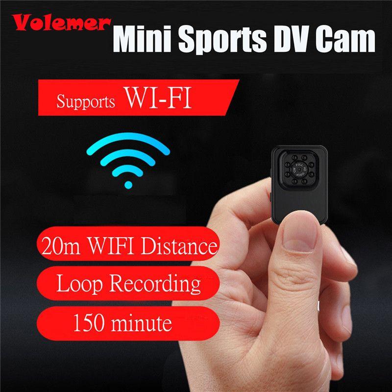 Volemer R3 WiFi Mini caméra HD 1080 P Micro caméra infrarouge Vision nocturne Mini sport DV caméra boucle enregistrement pour randonnée