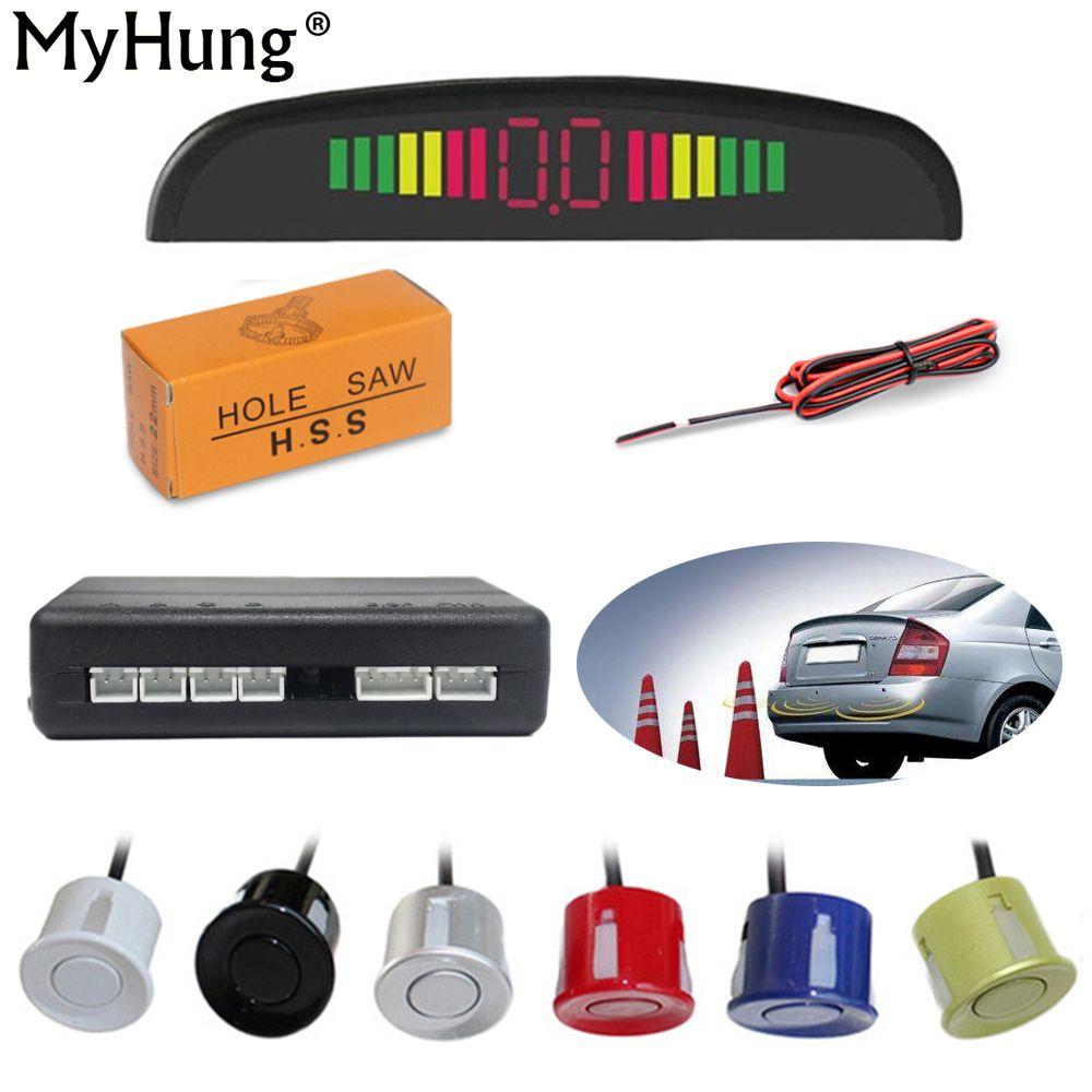 LED de voiture capteurs de stationnement moniteur automatique sauvegarde Radar détecteur système LED affichage 4 capteurs accessoires de voiture pièces d'auto