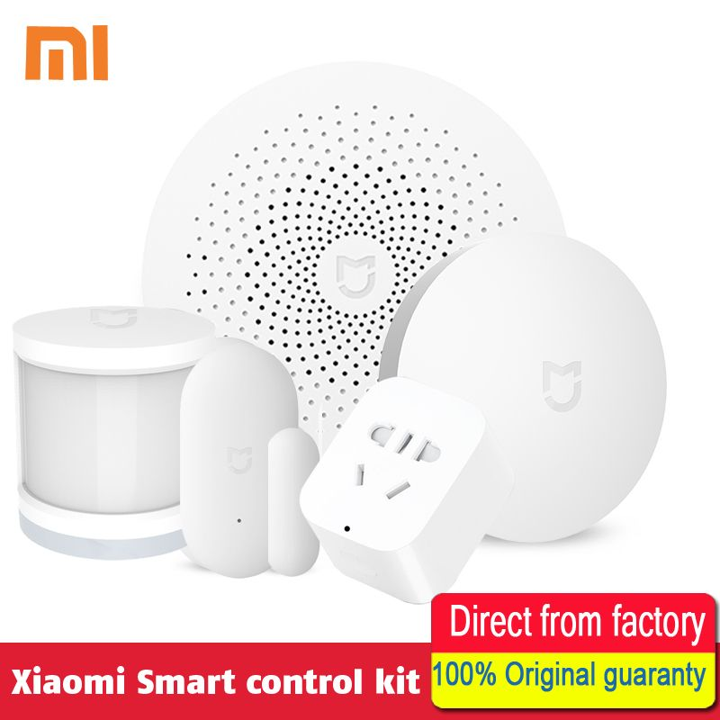 100% Original Xiaomi Smart Home Kit Gate way Intelligent Multifunction Wireless Switch <font><b>Human</b></font> Body Sensor Door Window Sensor