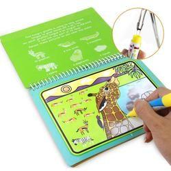 1 PC Dapat Digunakan Kembali Kartun Mewarnai Sihir Air Menggambar Buku Mewarnai Sihir Kreativitas Anak-anak Kerajinan Buku Pendidikan Anak Belajar Mainan